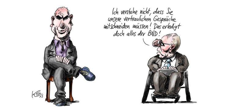 Finanzminister unter sich   Klaus Stuttmann für @tagesspiegel   http://tagesspiegel.de/karikatur    #Varoufakis #Schäuble