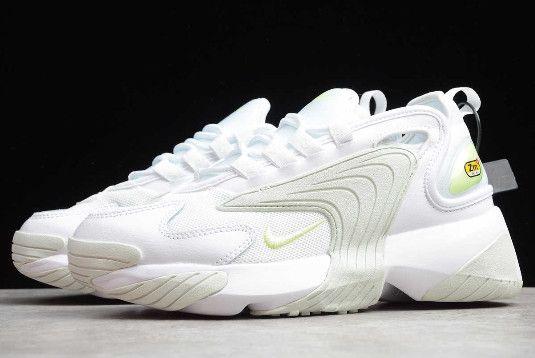 2019 Nike Zoom 2K White/Barely Volt-Ghost Aqua Women's Shoe AO0354 ...
