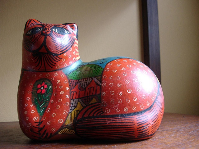mexican pottery cat