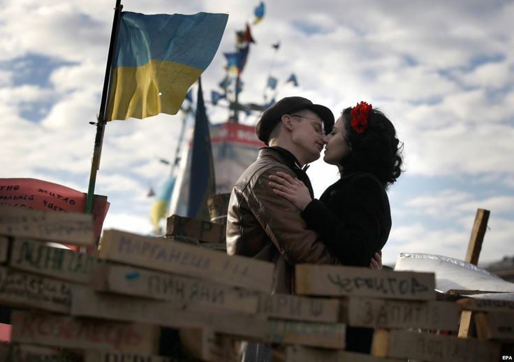 Tenderness on Maidan.