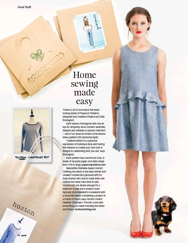 Hoxton Clothing in the press!  Good Magazine July/August 2016