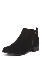 Womens Wide Fit Black 'Micha' Ankle Boots- Black