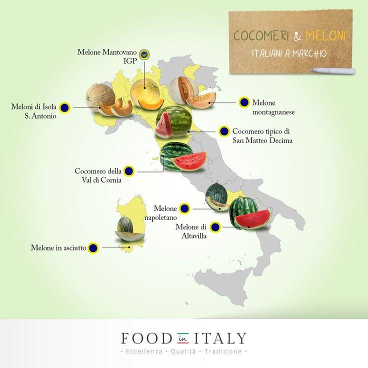 #Meloni e #cocomeri d'Italia: sai da dove provengono? Ecco le regioni che ci deliziano con queste dolci prelibatezze tradizionali.