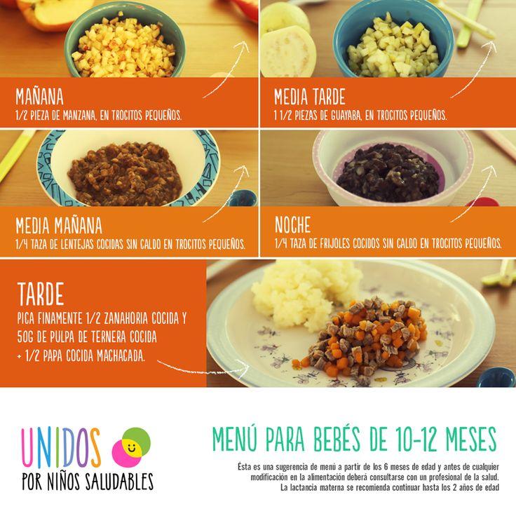 menu para bebes de 10-12 meses