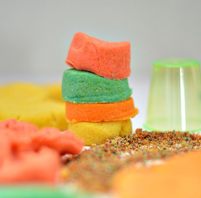 make sand dough with edible ingredients