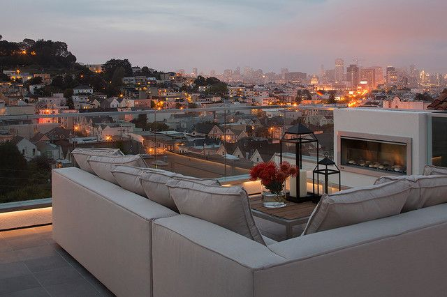 20 Rooftop Terrace Fireplace And Fire Pit Design Ideas To Relax