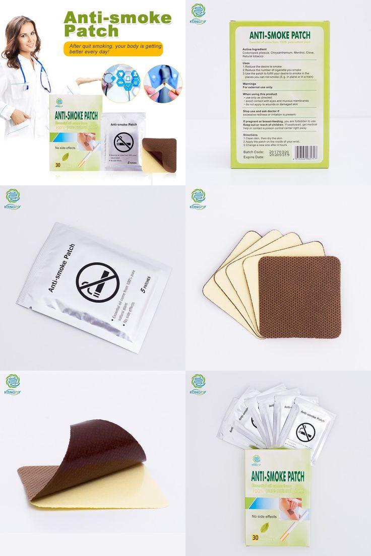 [Visit to Buy] KONGDY Brand Anti Smoke Patch 30 Pieces/Box Smoking Cessation Pad 100% Natural Herbal Stop Smoke Patch Health Therapy #Advertisement