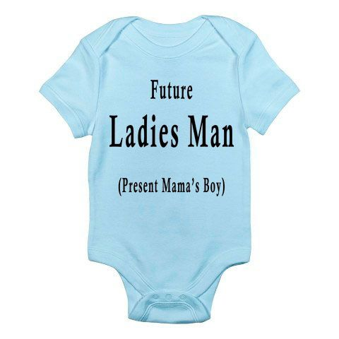Funny Baby Onesie - Funny Baby Boy Onesie- Future Ladies Man. $14.99, via Etsy.