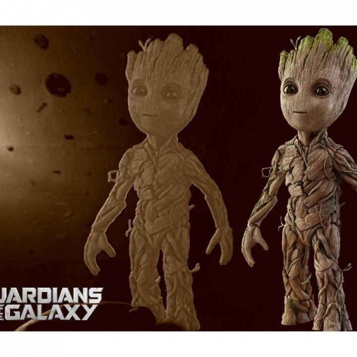 3D Printable Baby Groot lithophane             by Raul