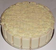 white tim tam cake