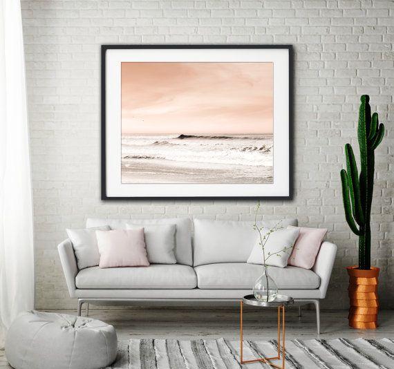 Peach and Gray Wall Art Beach Photography Beach Sunrise