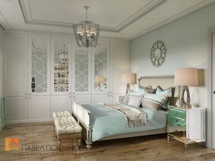 Фото: Интерьер спальни для гостей - Интерьер загородного дома в стиле американской неоклассики, п. Токсово, 215 кв.м.