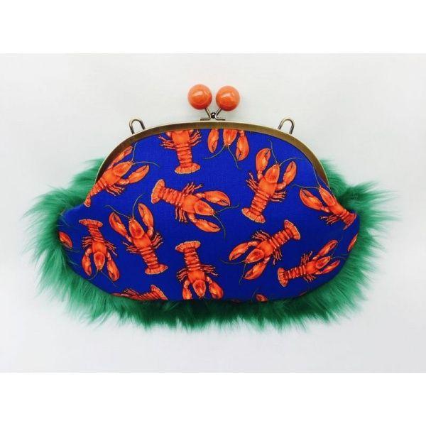 画像1: Red robster|Fur 1/2|Clutch bag (1)