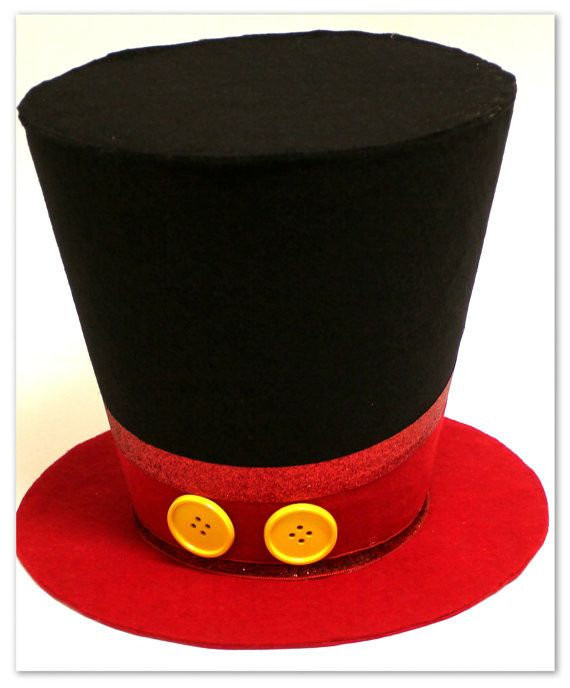 Hey, I found this really awesome Etsy listing at https://www.etsy.com/listing/166800540/7in-mickey-mouse-top-hat-mickey-mouse