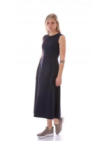 Harris Wharf London - Neoprene midi A-line dress