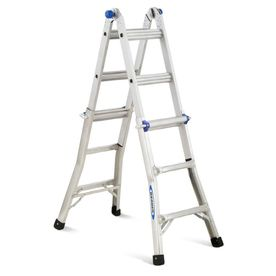 Werner 13-ft Aluminum 300-lb Telescoping Type IA Multi-Position Ladder - Lowes - Sale price $99.99, reg. price $119.99