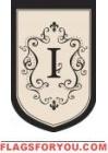"""Monogram """"I"""" Garden Flag - 2 left"""