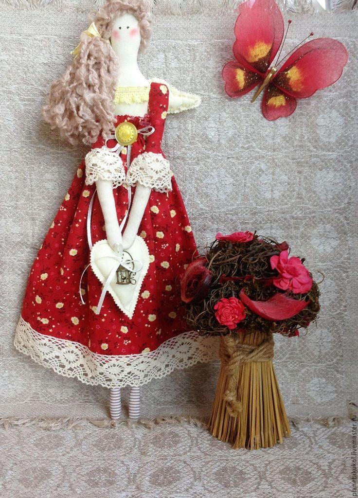 Купить Ангел-хранитель Летний сад - текстильная кукла, текстиль для интерьера, текстильный ангел