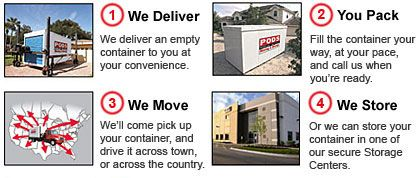 PODS - Local Moving and Storage | MOVING~HOUSE | Pinterest