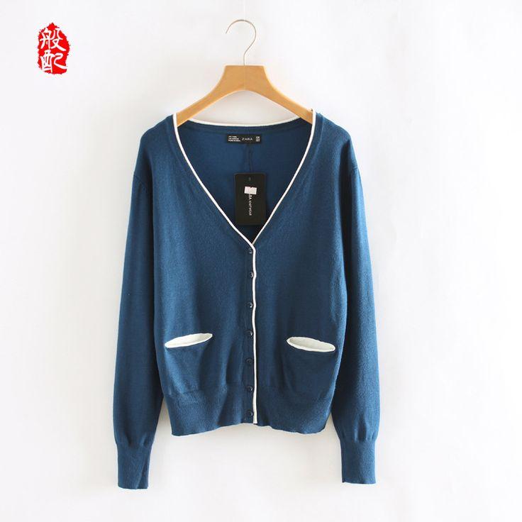 blau cardigan