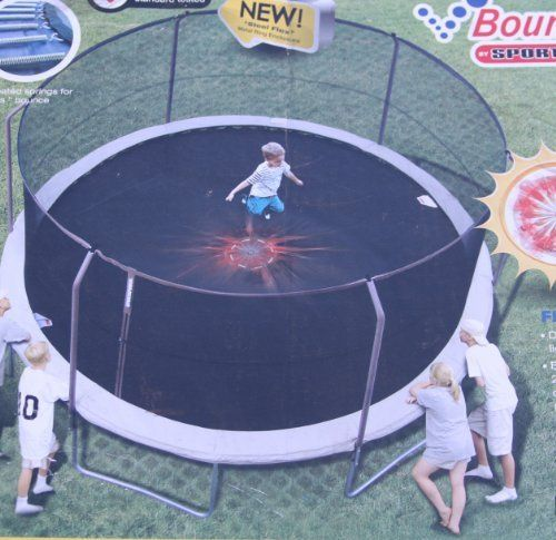 Bounce Pro Net for the 14' Flex Model by Sportspower. $78.00. Ours is aftermarket net, made from a better material, it has more plastic instead of cloth. Fits Bounce Pro by Sportspower 14' Trampoline with 6 angled poles uses a separate metal rod through the top of the net.