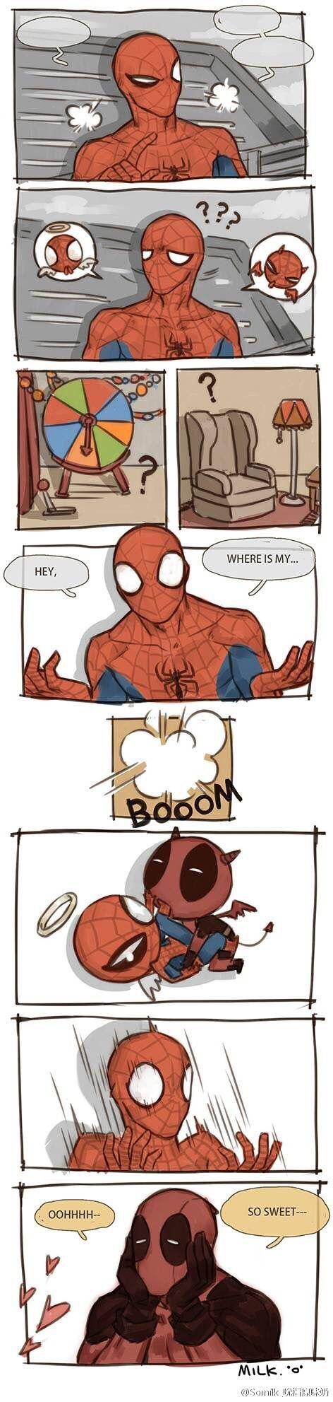 Deadpool x Spiderman @Somilk_吮指原味奶 - visit to grab an unforgettable cool 3D…