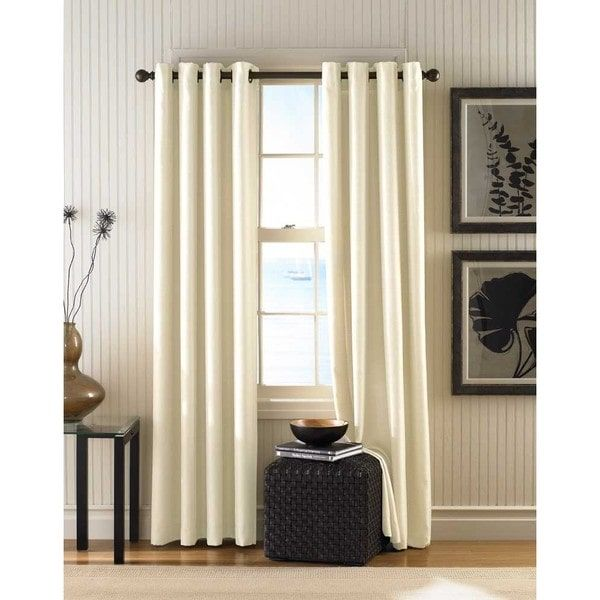 Monterey Textured Lined Grommet Curtain Panel (With Images