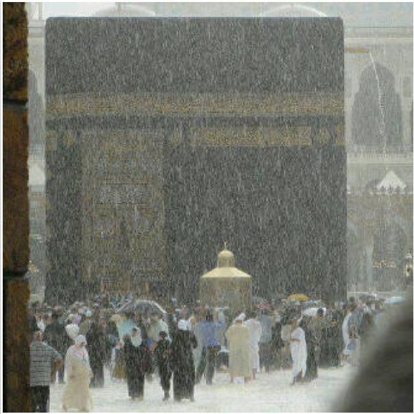 Kaaba in the rain. MashaAllah.