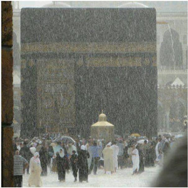 Kaaba in the rain. MashaAllah.