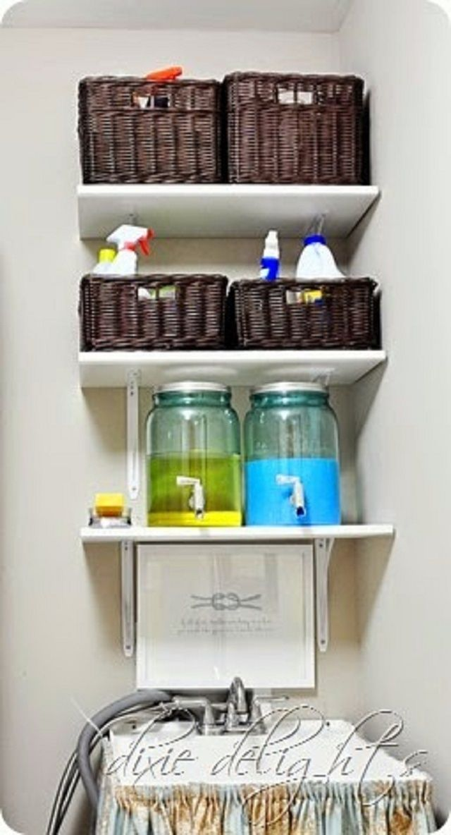 Create Fabulous Style in a Small Laundry Room: Laundry Room Storage Is A Must Have