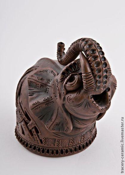 Керамическая статуэтка ручной работы «Слоненок». Handmade ...