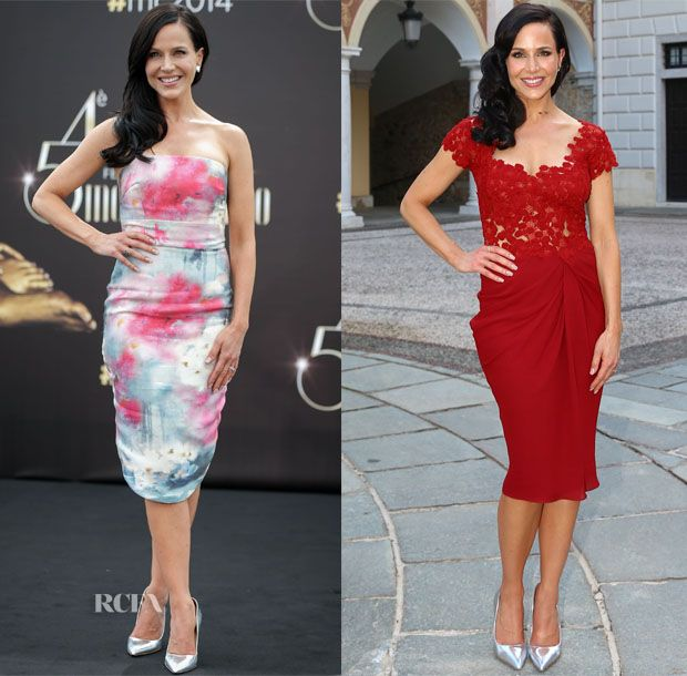 Julie Benz In Elena Reva & Rhea Costa - 54th Monte Carlo TV Festival