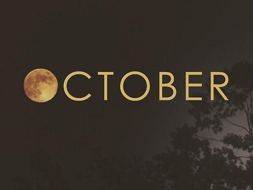 october, moon, and autumn Bild