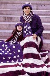 Show your American spirit! This #crocheted Americana Afghan is a pretty way to display your patriotism and talent with yarn