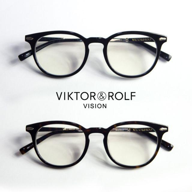 VIKTOR&ROLF ヴィクター&ロルフ ボスリントンフレーム メンズ レディース メガネ 度付き 伊達 70-0152