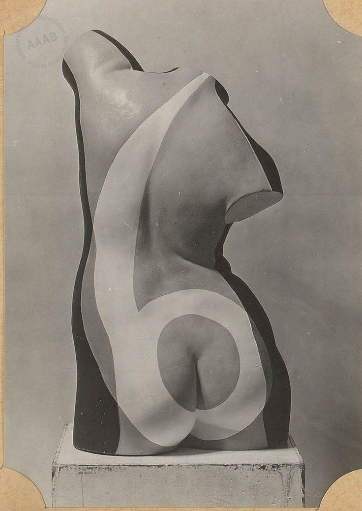 Max Ernst sculpture. Andre Breton photo