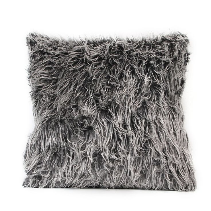 Willow Grey Faux Fur Cushion - Pin for Inspo!