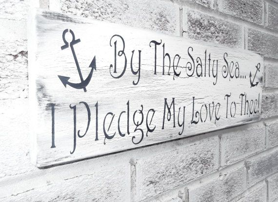 Nautical Wedding Theme, Anchor Sign, Beach Wedding Signs, Beach House decor, Boating Boat Sailing Ocean, Rustic Chic Shabby Signs
