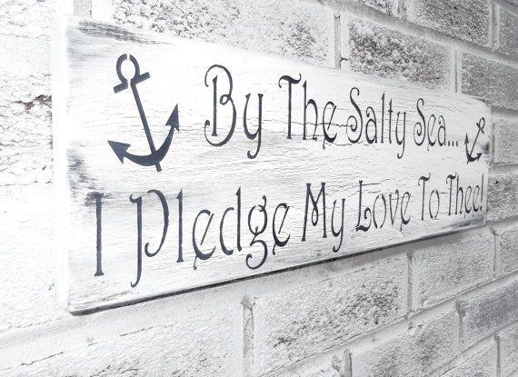 Nautical Wedding Theme, Anchor Sign, Beach Wedding Signs, Beach House decor, Boating Boat Sailing Ocean, Rustic Chic Shabby Signs
