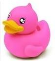 pink! knalroze badeend