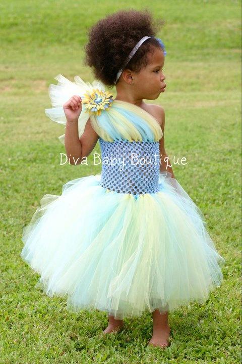 One shoulder tutu dress.