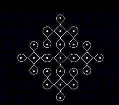 This is the first kolam that I learnt from my mother