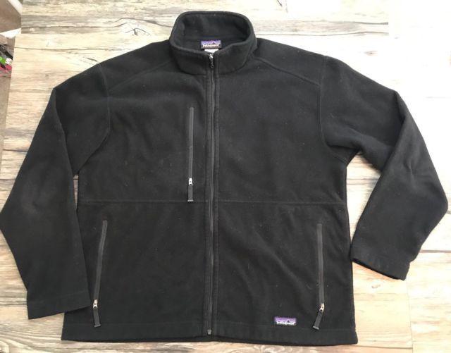 Patagonia Synchilla Jacket Full Zip Fleece Mens Black Large 6D   eBay