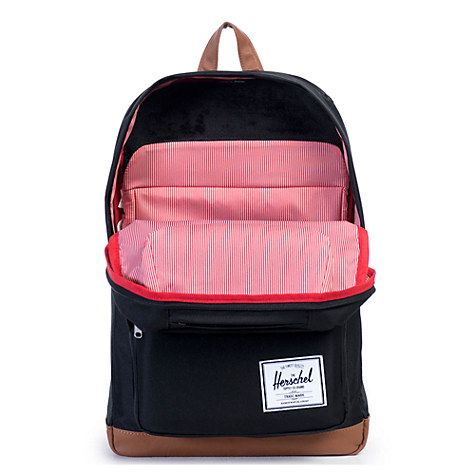 Buy Herschel Supply Co. Pop Quiz Backpack, Black/Tan Synthetic Leather Online at johnlewis.com