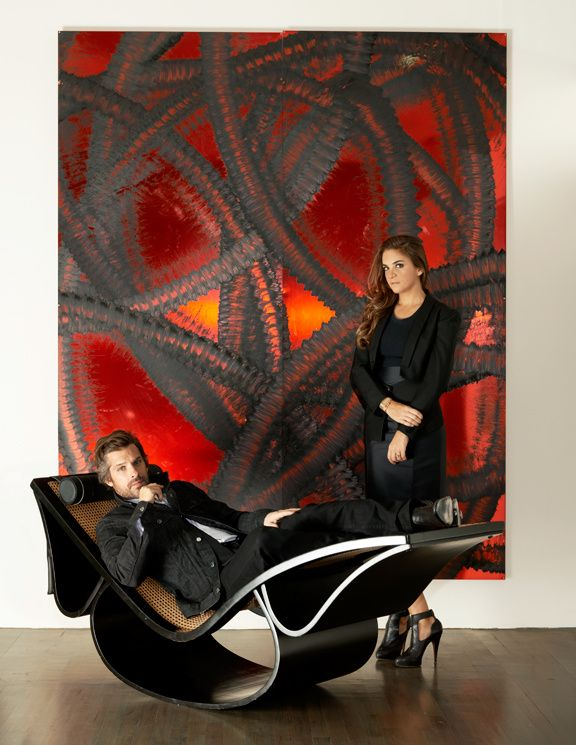 LOve the painting of Aaron Young and the chaise longue also Aaron Young Laure Hériard Dubreuil