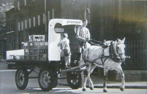 Old Dublin Premier Dairies horse & dray