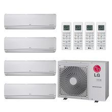 <strong>Overview for LG LMU36CHV 3-LSN090HSV4 LMN158HVT</strong><br/><br/>LG Ductless Air Conditioning Systems offer convenient solutions that are cost-effective, quiet, and attractive. These innovative systems are split into two efficient units. The wall-mounted interior unit is slim, lightweight, and aesthetically pleasing. The larger, Flex Multi-Split systems operate two, three or four interior units that are mounted in separate rooms. Each indoor uni...