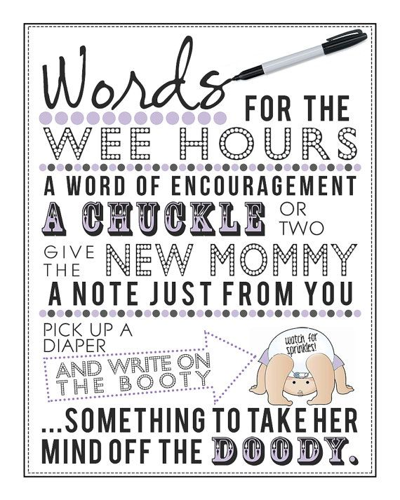 RESERVED: ALENA Pink Words for the Wee Hours Printable for