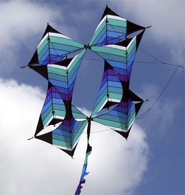 Sojourn box kite by Robert Brasington. Love his kites.