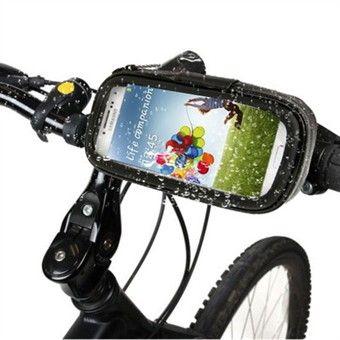 Vandtæt iPhone-cover til cykel. Skal være muligt at benytte ledningsheadset.                           Evt. 2 monteringssæt (et til hver cykel)